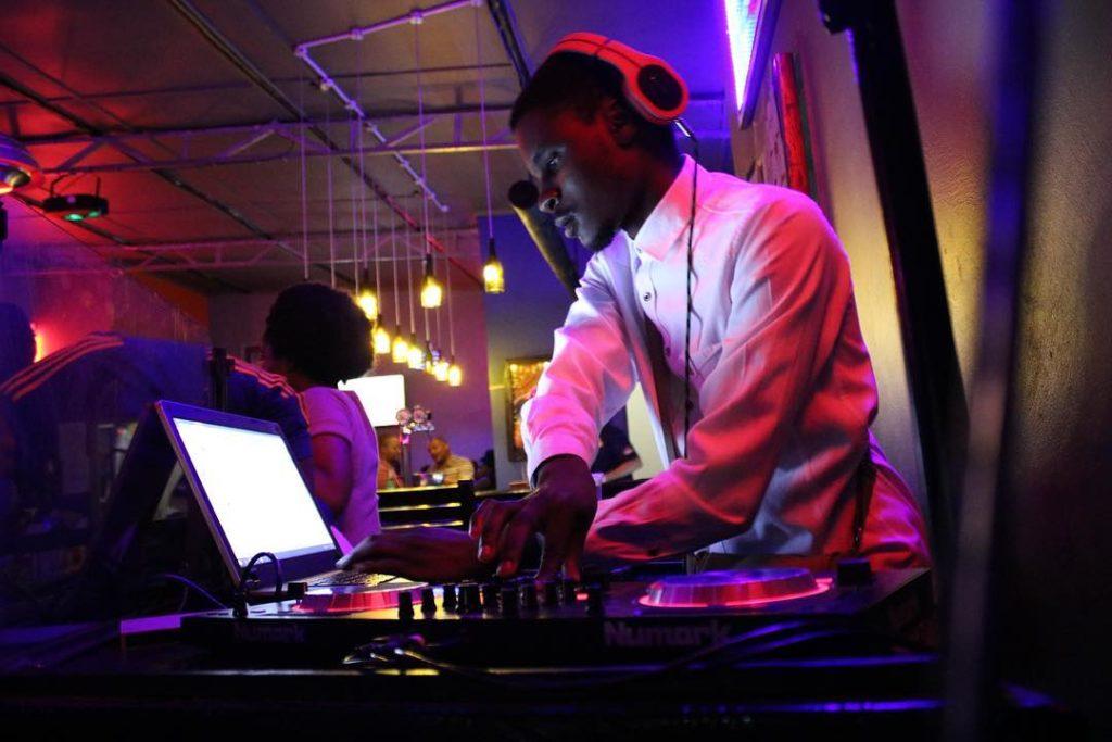 DJ on deck at East 68 Pub