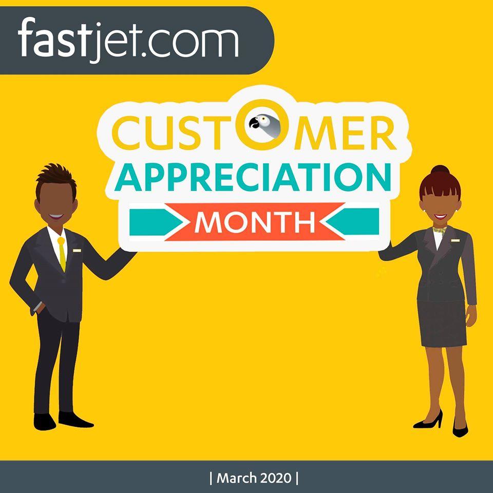 Fastjet promotion banner