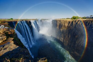 View of the Vic Falls Gorges