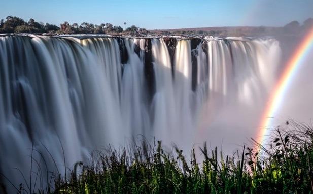 View of Victoria Falls Zimbabwe